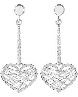 Dream Catcher Heart Earrings