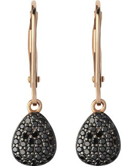 Hope 18ct Yellow-gold And Black Diamond Earrings