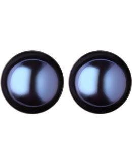 Effervescence Large Black Pearl Stud Earrings