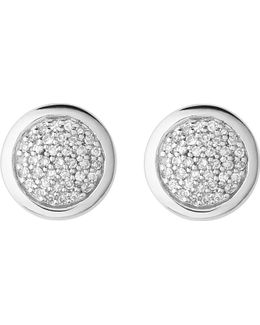 Diamond Essentials Sterling Silver And Diamond Stud Earrings