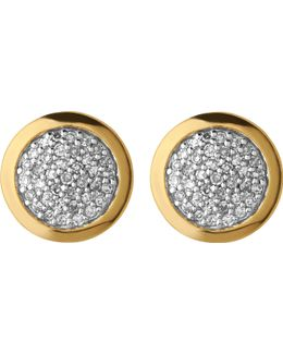 Diamond Essentials Gold And Diamond Stud Earrings