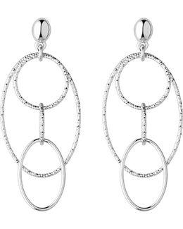 Aurora Silver Loop Chandelier Earrings