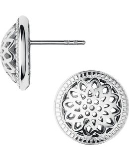 Timeless Sterling Silver Domed Stud Earrings