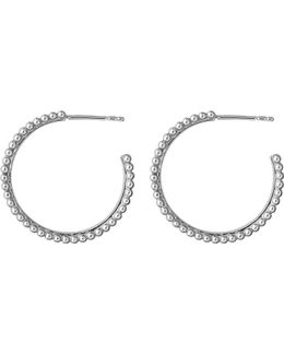 Effervescence Sterling Silver And Diamond Hoop Earrings