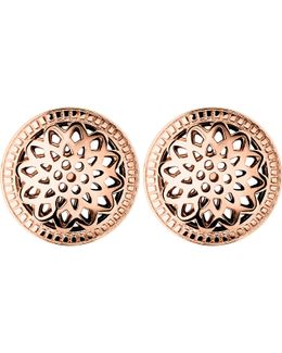 Timeless 18ct Rose-gold Vermeil Stud Earrings