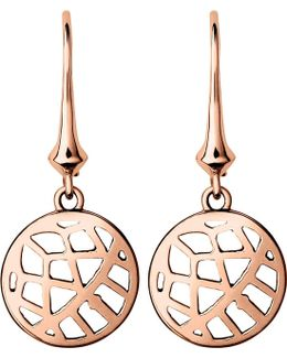 Timeless 18ct Rose-gold Vermeil Drop Earrings