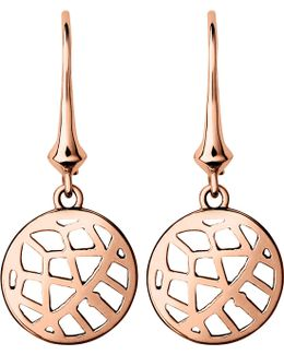 Timeless 18ct Rose-gold Vermeil Drop Earrings