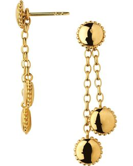 Amulet 18ct Gold Vermeil Drop Earrings