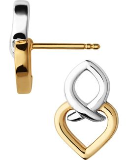 Infinite Love 18ct Gold Vermeil And Sterling Silver Stud Earrings