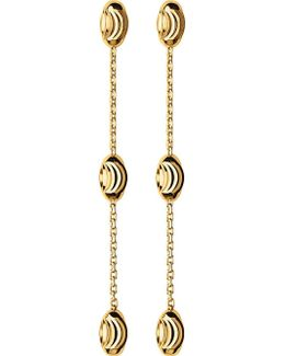 Essentials 18ct Yellow-gold Vermeil Beaded Drop Earrings
