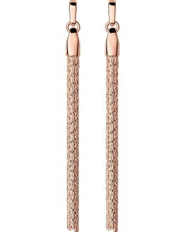 Essentials Rose-gold Vermeil Silk Row Earrings