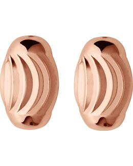 Essentials Rose-gold Vermeil Beaded Stud Earrings