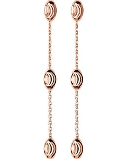 Essentials Rose-gold Vermeil Beaded Drop Earrings