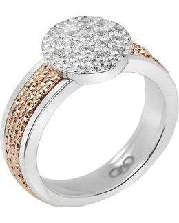 Celeste 18ct Rose Gold Vermeil And Sterling Silver Pave Ring