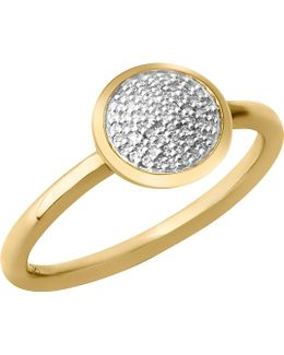 Diamond Essentials 18-carat Yellow-gold Vermeil And Diamond Ring