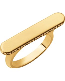 Narrative Long 18ct Gold Vermeil Ring