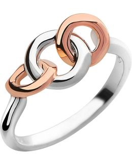20/20 Sterling Silver And 18ct Rose Gold-plated Ring