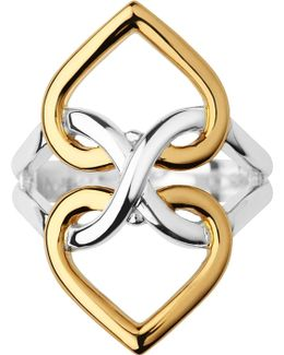 Infinite Love 18ct Gold Vermeil And Sterling Silver Ring