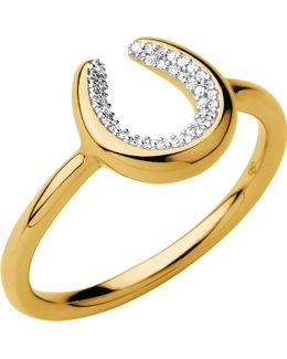 Ascot Diamond Essentials 18ct Gold Vermeil Horseshoe Ring