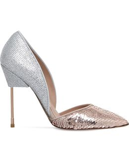 Bond Glitter And Sequin-embellished Courts