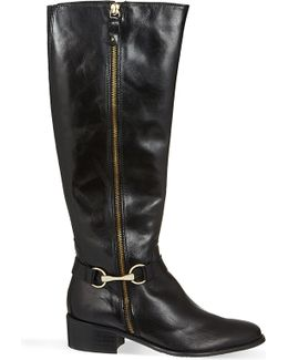 Waffle Knee-high Boots