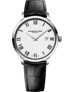5488-stc-00300 Toccata Stainless Steel And Leather Watch