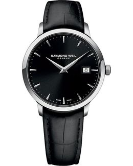 5488-stc-20001 Toccata Stainless Steel And Leather Watch