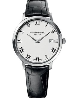5588-stc-00300 Toccata Stainless Steel And Leather Watch