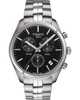 T101.417.11.051.00 Pr 100 Stainless Steel Watch