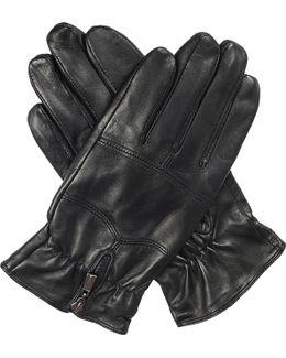 Bilbury Fleece-lined Leather Biker Gloves