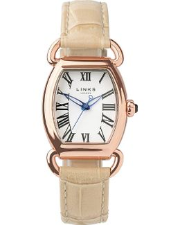 Driver Ellipse Gold-plated Leather Watch