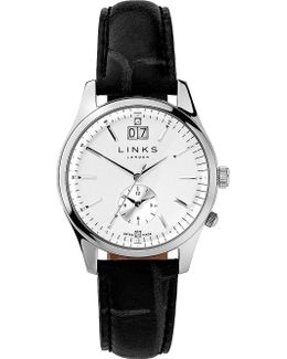 6010.1459 Regent Stainless Steel And Leather Watch
