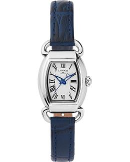 6010.2158 Driver Mini Tonneau Stainless Steel And Leather Watch