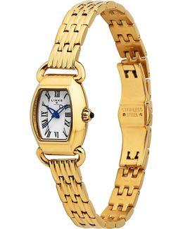 6010.2162 Driver Mini Tonneau Rose Gold-plated Watch
