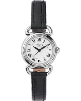 6010.2169 Driver Mini Stainless Steel And Leather Watch