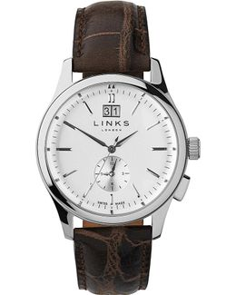 Regent Stainless Steel And Leather Watch