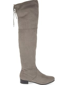 Supper Faux-Suede Knee-High Boots