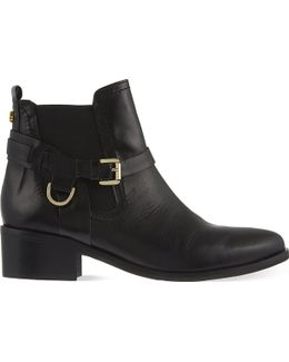 Saddle Leather Chelsea Boots