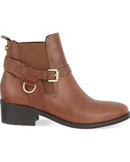Saddle Leather Ankle Boots