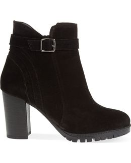 Support Suede Ankle Boots