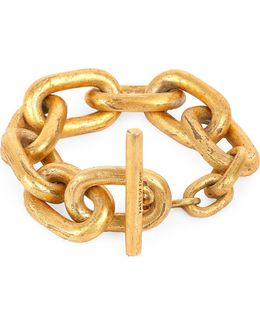 Acid-wash Gold-plated Small Toggle Bracelet