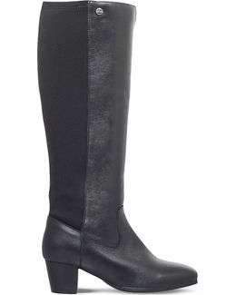 Valerie Leather Knee-high Boot