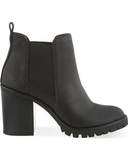 Silent Heeled Ankle Boots