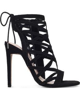 Gracie Suedette Heeled Sandals