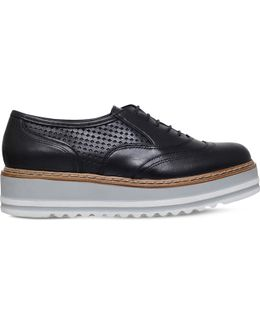 Lasting Leather Flatform Oxford Shoes