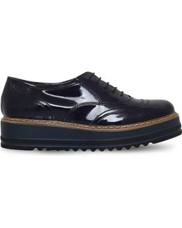 Lasting Patent-leather Flatform Brogues