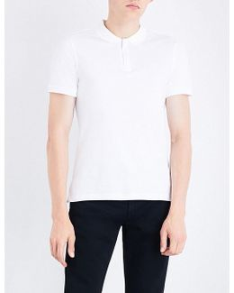 Zip-up Cotton Polo Shirt