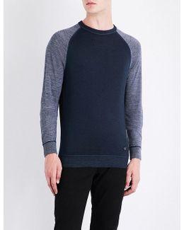 Raglan-sleeve Wool Jumper