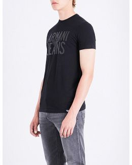 Rubberised Logo-print Stretch-cotton T-shirt