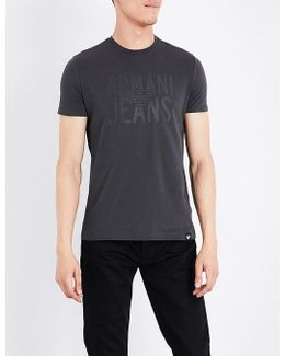 Rubberised Logo-print Stretch-cotton T-shirt